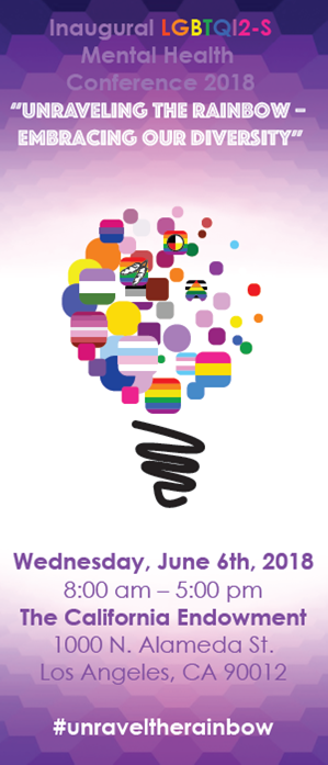 Inaugural Lgbtqi2 S Mental Health Conference 2018 Unraveling The