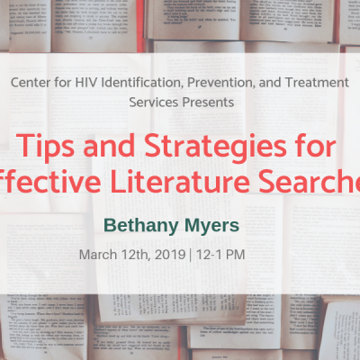 Tips and Strategies for Effective Literature Searches