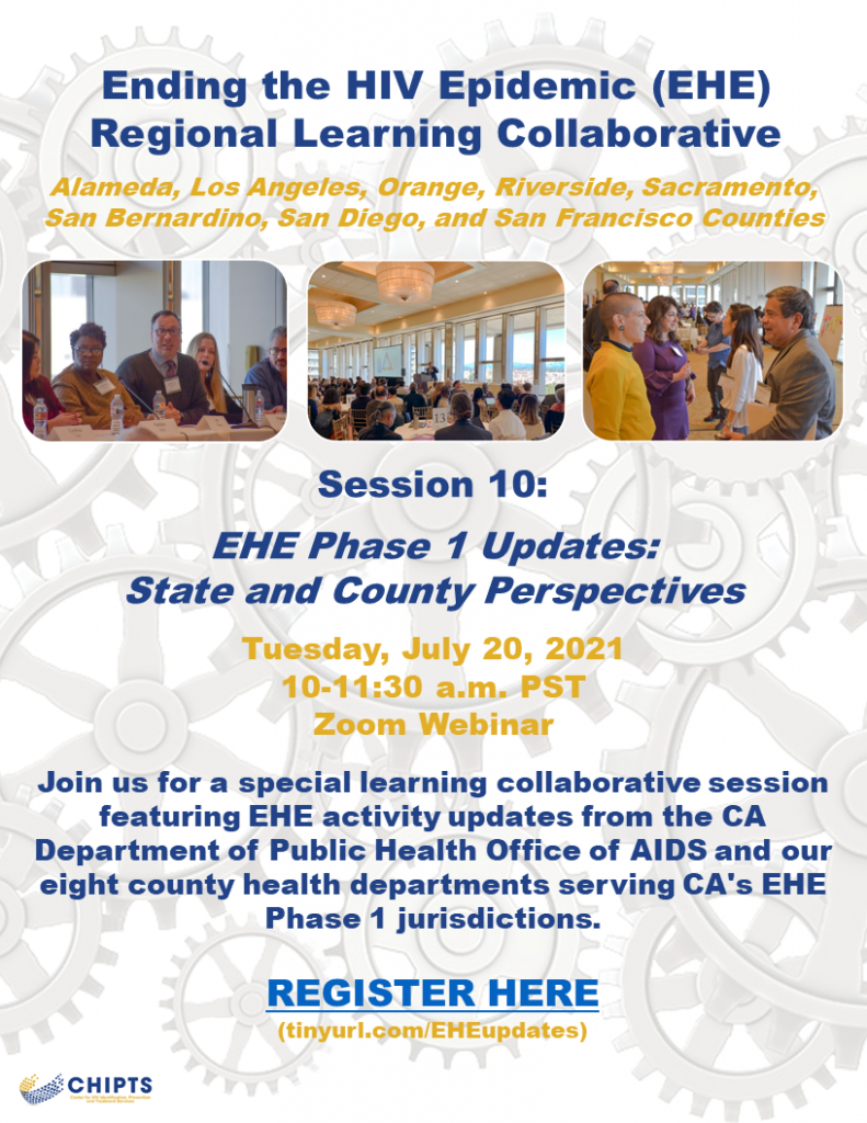 EHE regional learning collaborative session 10 - EHE Phase 1 Updates: State and County Perspectives