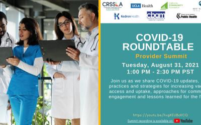 COVID-19 Provider Summit Social Graphic