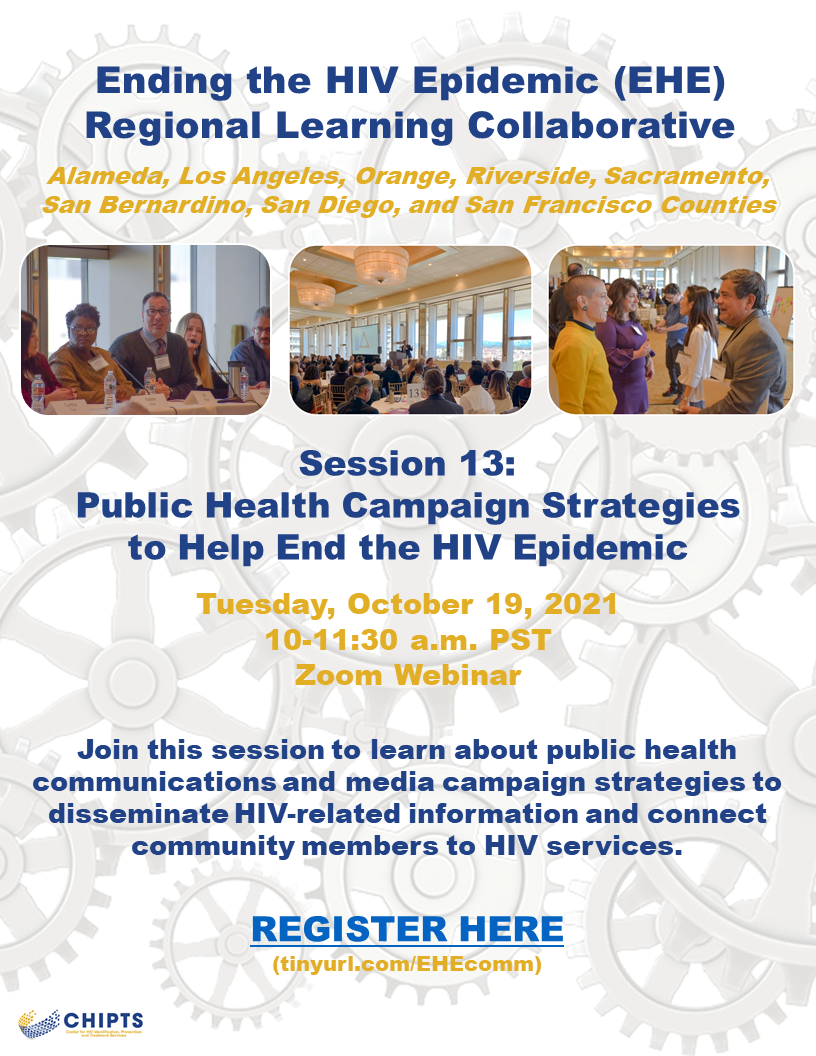EHE regional learning collaborative session 13: Public Health Campaign Strategies to Help End the HIV Epidemic