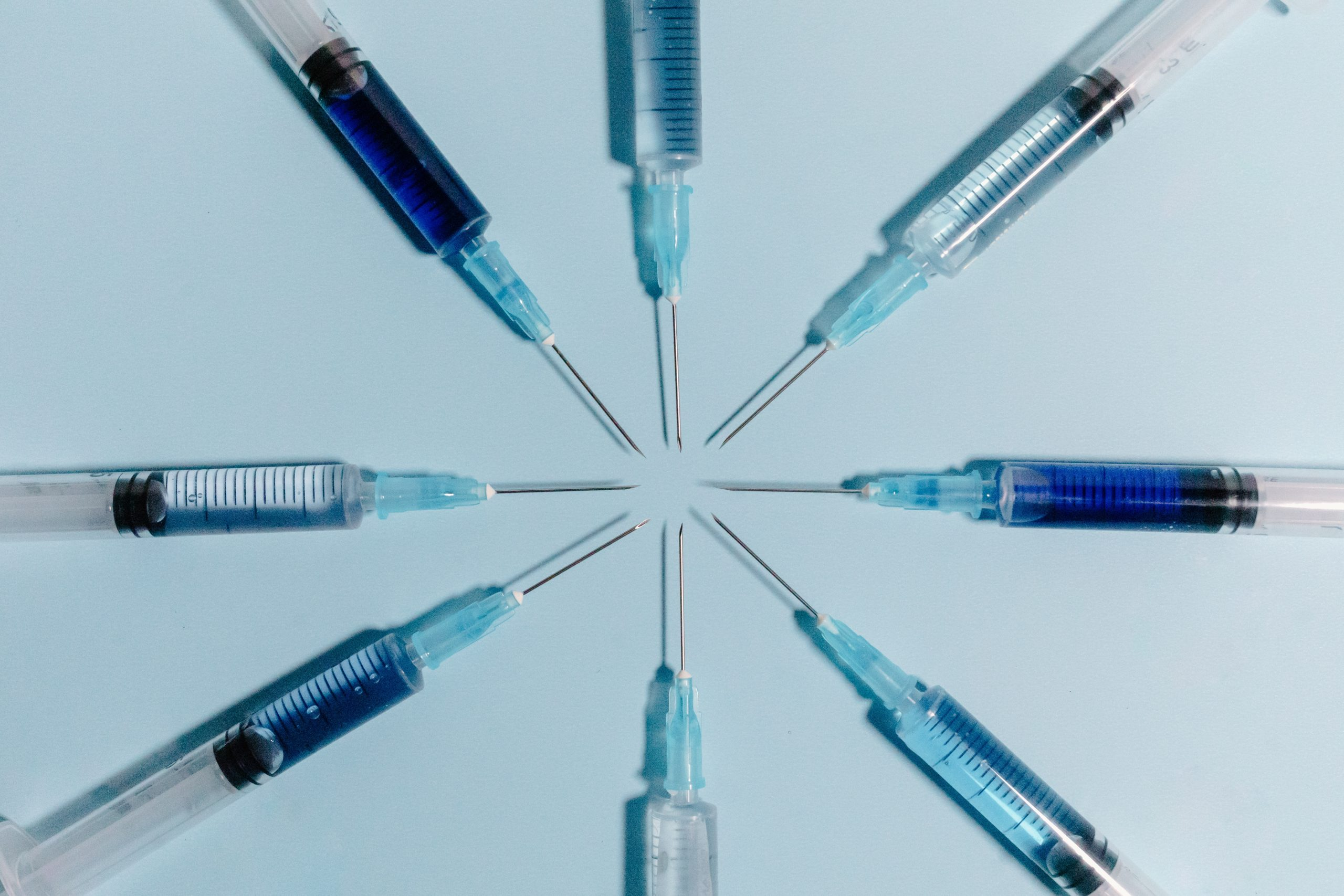 Group of syringes